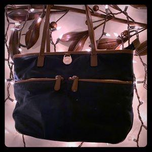 MIchael Kors MK Navy canvas medium purse